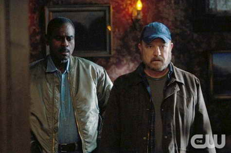 Steven Williams as Rufus Turner and Jim Beaver as Bobby Singer in SUPERNATURAL